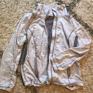 Lululemon lightweight grey space-dye jacket sz 8